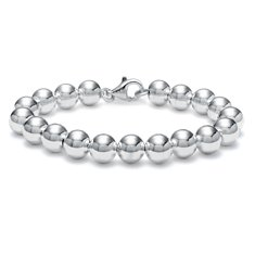 Beaded Bracelet in Sterling Silver (10mm)