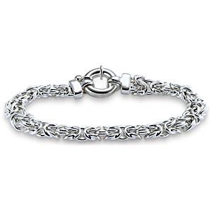 Bracelet byzantin en argent sterling