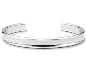 Narrow Cuff Bracelet in Sterling Silver