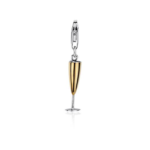 Champagne Flute Charm in Sterling Silver