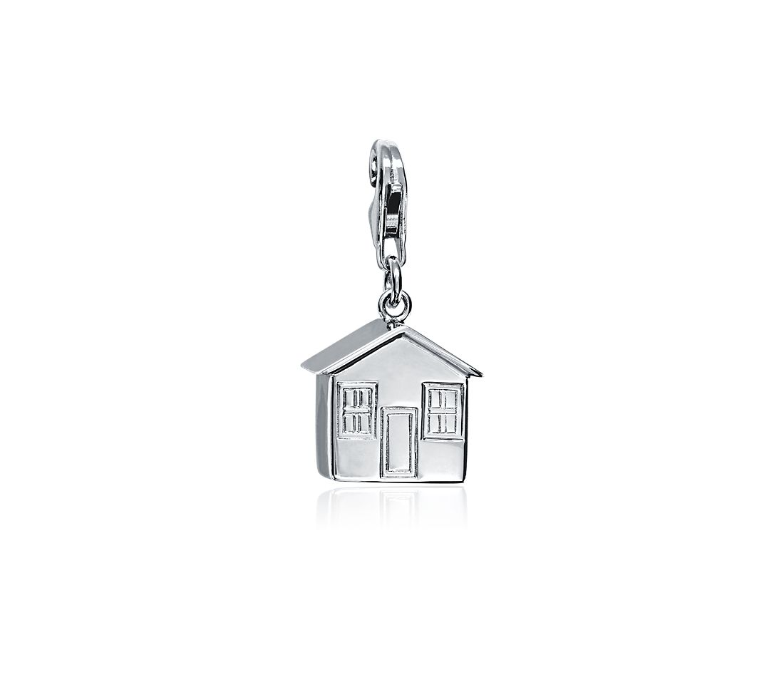 House Charm in Sterling Silver