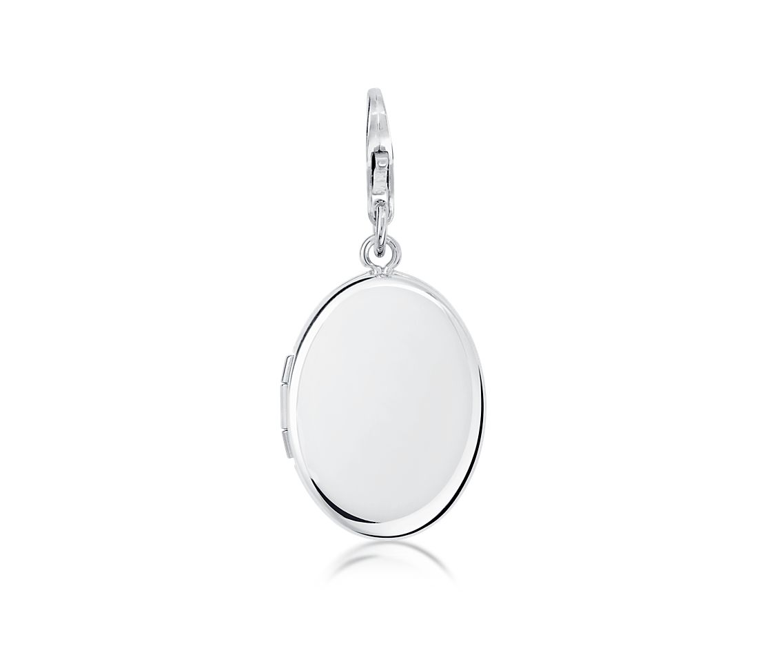 Oval Locket Charm in Sterling Silver