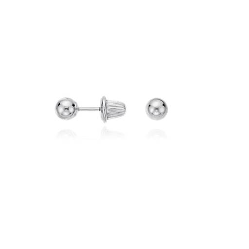 Children's Ball Earrings in Sterling Silver