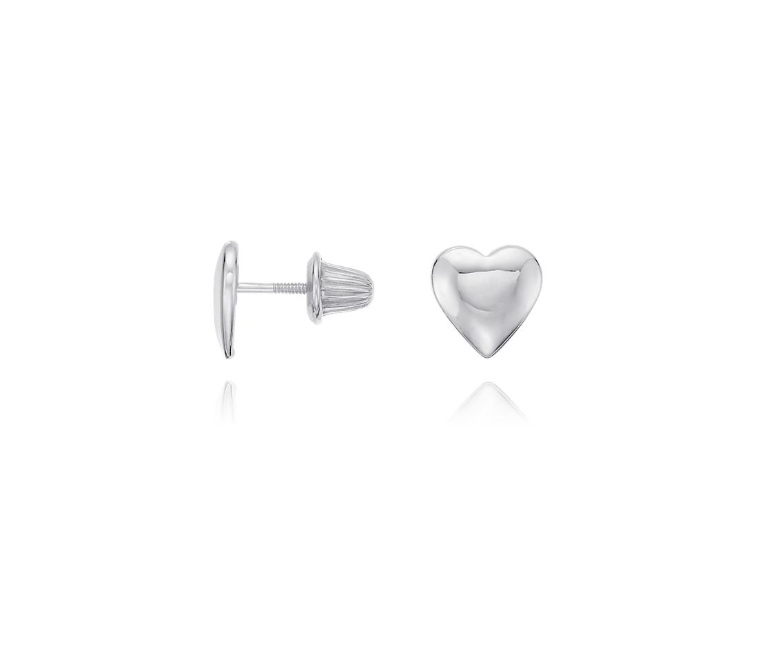 Children's Heart Earrings in Sterling Silver