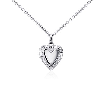 Children's Heart Locket in Sterling Silver