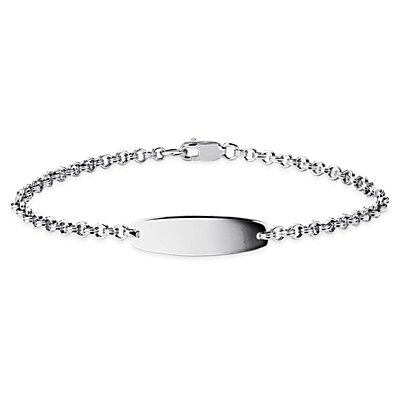 Children's ID Bracelet in Sterling Silver