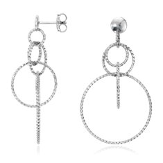 Ensemble Circle Drop Earrings in Sterling Silver