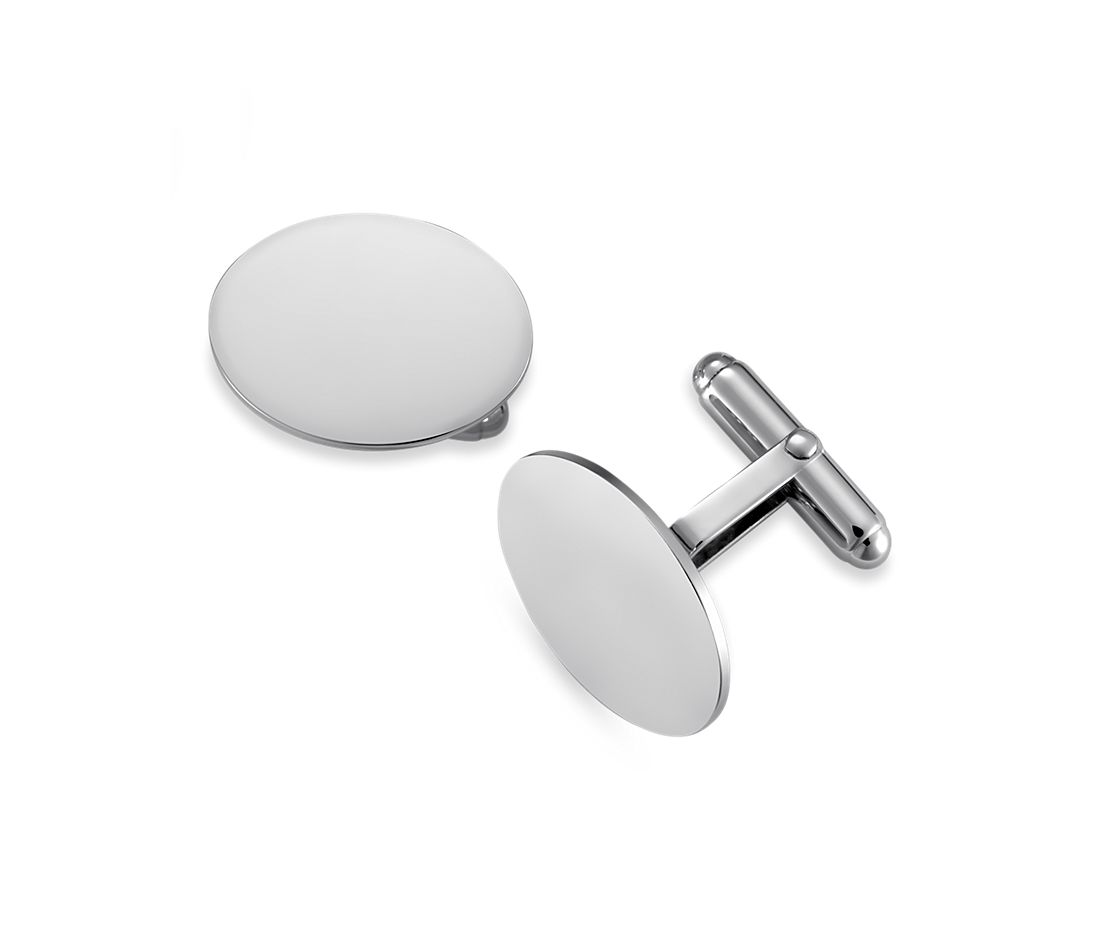 Oval Cuff Links in Sterling Silver
