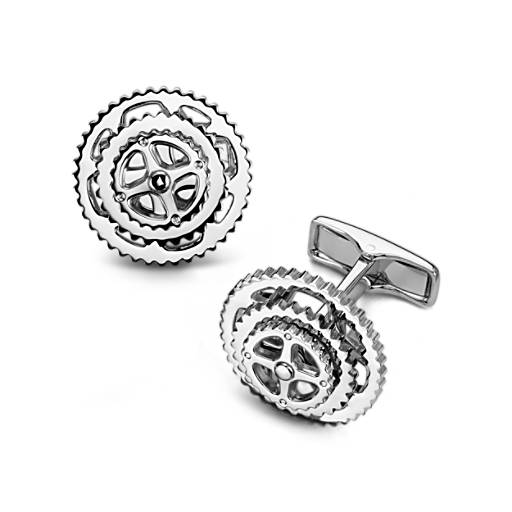 Cyclist Cuff Links in Sterling Silver