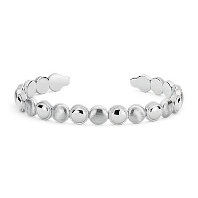 Frances Gadbois Wide Disc Cuff Bracelet in Sterling Silver