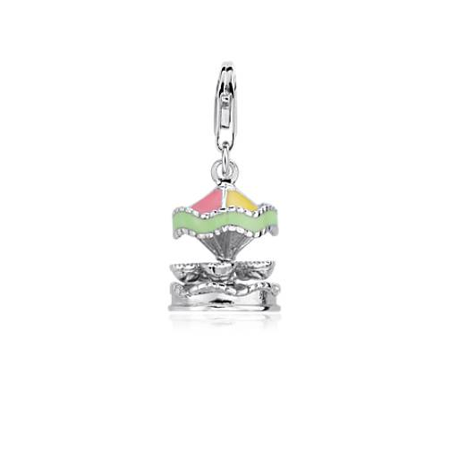 Carousel Charm in Sterling Silver