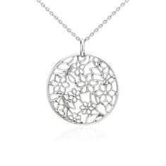 Bouquet Floral Pendant in Sterling Silver