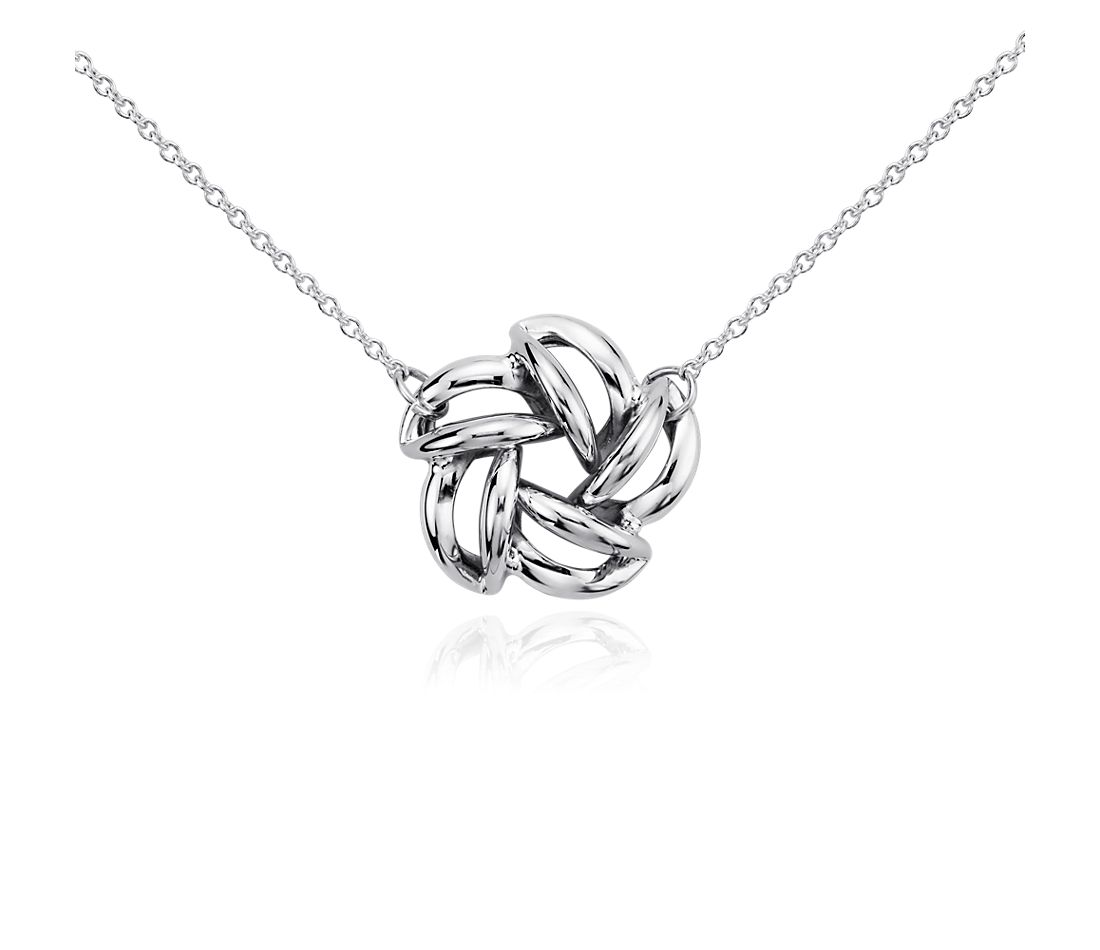 Flower Bead Pendant in Sterling Silver