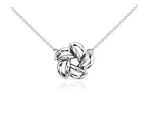 Pendant perle en fleur en argent sterling