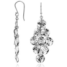 Hammered Chandelier Earrings in Sterling Silver