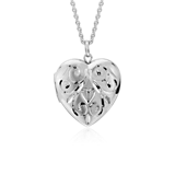 Hand-Engraved Heart Locket in Sterling Silver