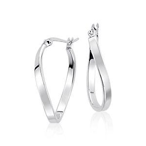 925 純銀抽象圈形耳環( 3/4 英寸)