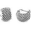 Mesh Hoop Earrings in Sterling Silver