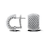 Mesh Hoop Earrings in Sterling Silver