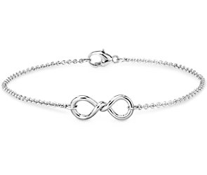 Twist Infinity Chain Bracelet in Sterling Silver