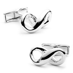 Infinity Cuff Links in Sterling Silver