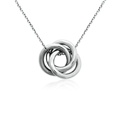 Infinity Love Knot Pendant in Sterling Silver