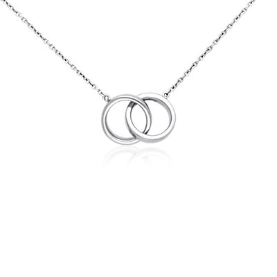 Infinity Rings Necklace in Sterling Silver
