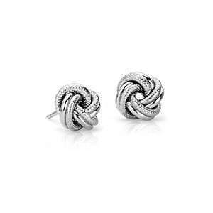 Interlaced Love Knot Earrings in Sterling Silver
