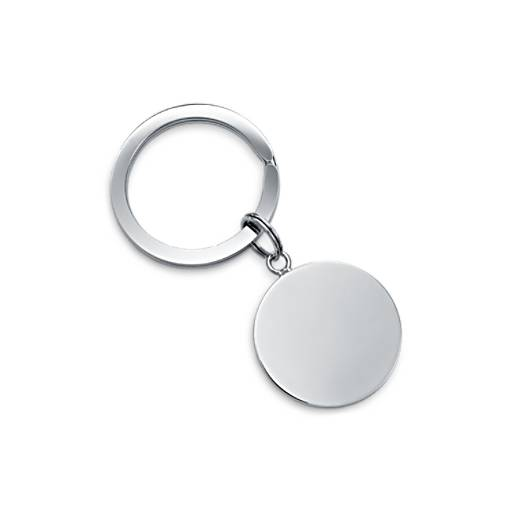 Round-Tag Key Ring in Sterling Silver