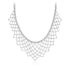 Lace Bib Necklace in Sterling Silver