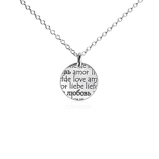 Language of Love Pendant in Sterling Silver