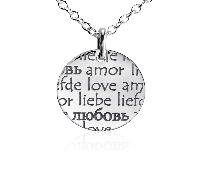 Colgante Lenguaje del Amor en plata de ley