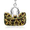 Leopard Handbag Charm in Sterling Silver