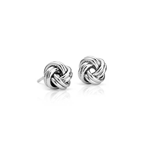 Love Knot Earrings in Sterling Silver