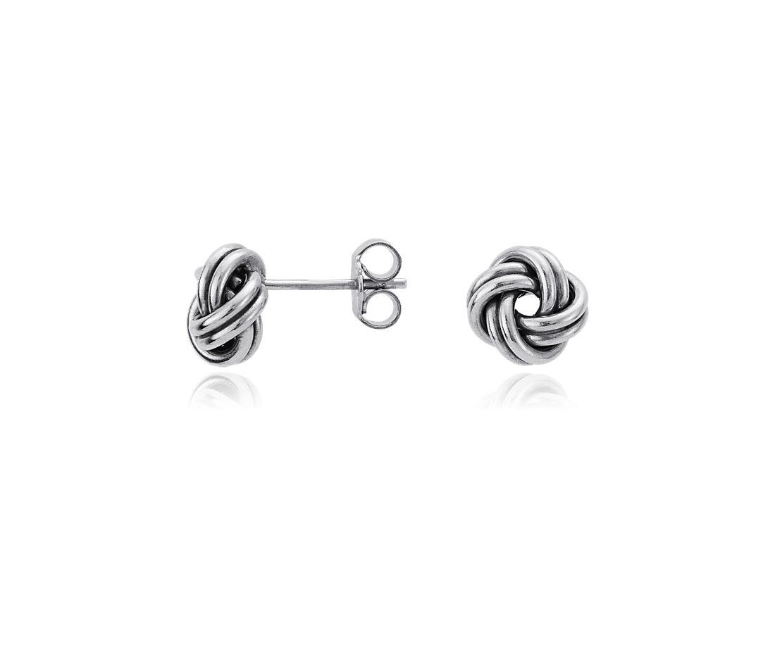 Love Knot Earrings in Sterling Silver