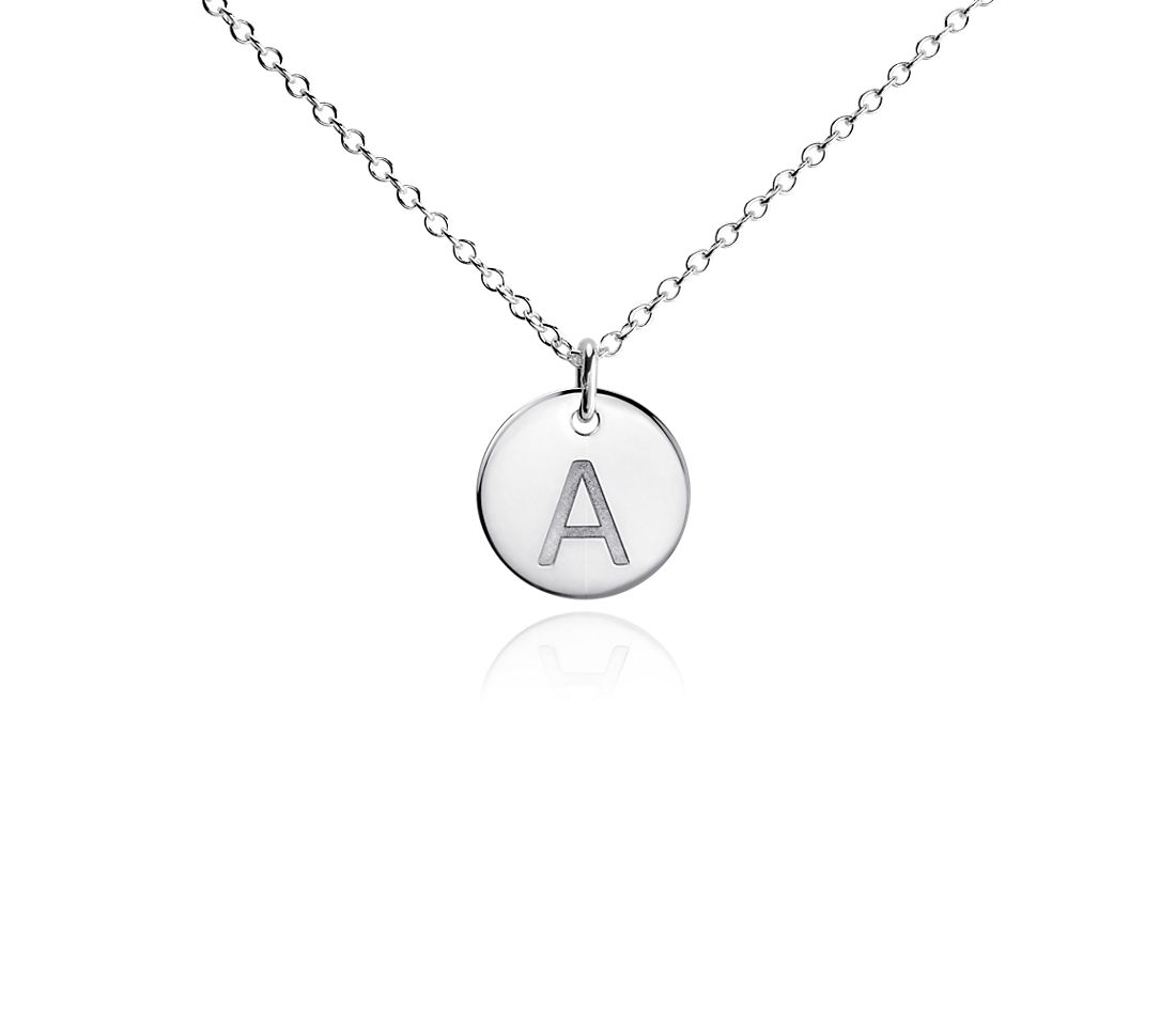 """A"" Mini Initial Pendant in Sterling Silver"