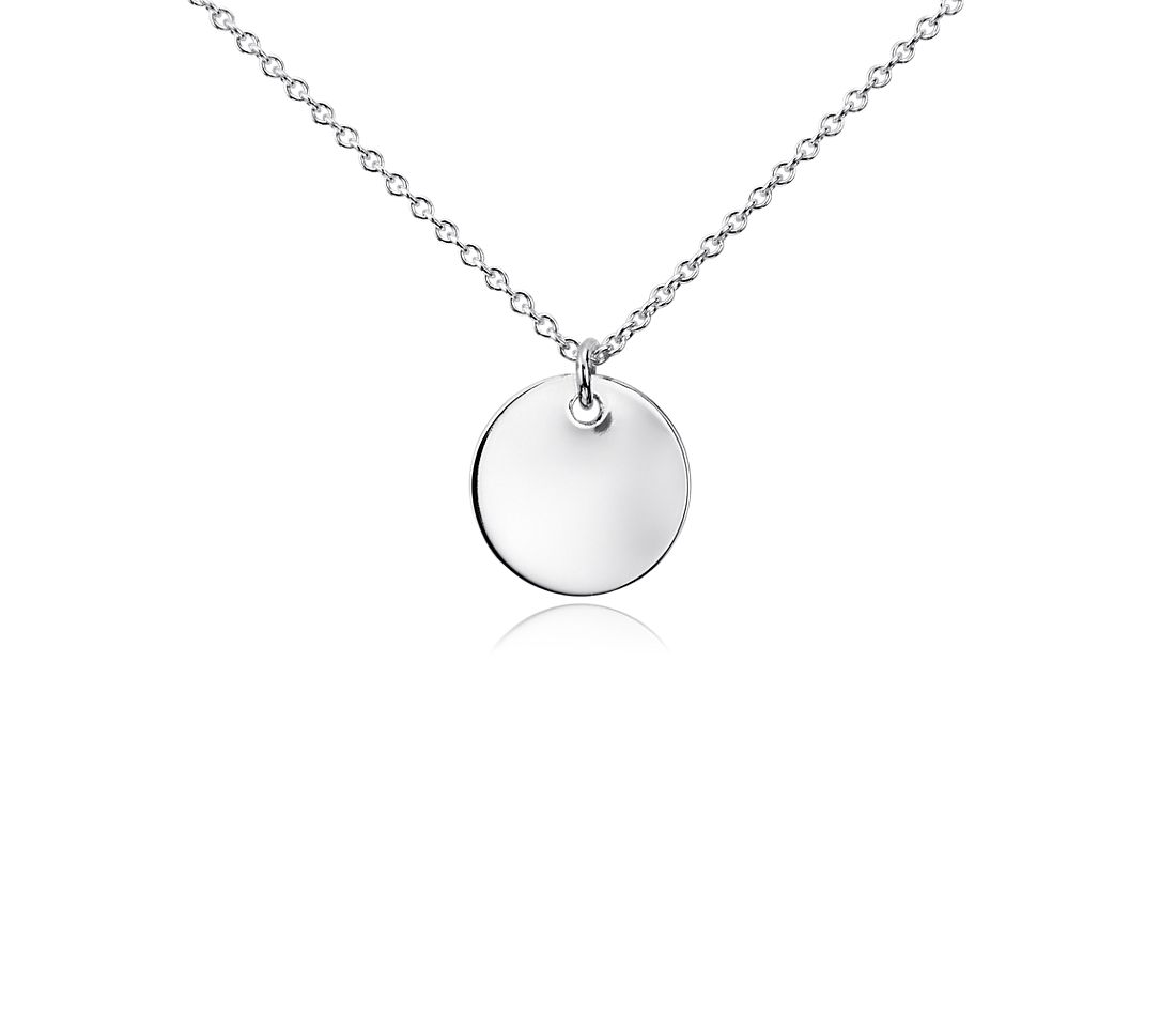 Mini Disc Pendant in Sterling Silver