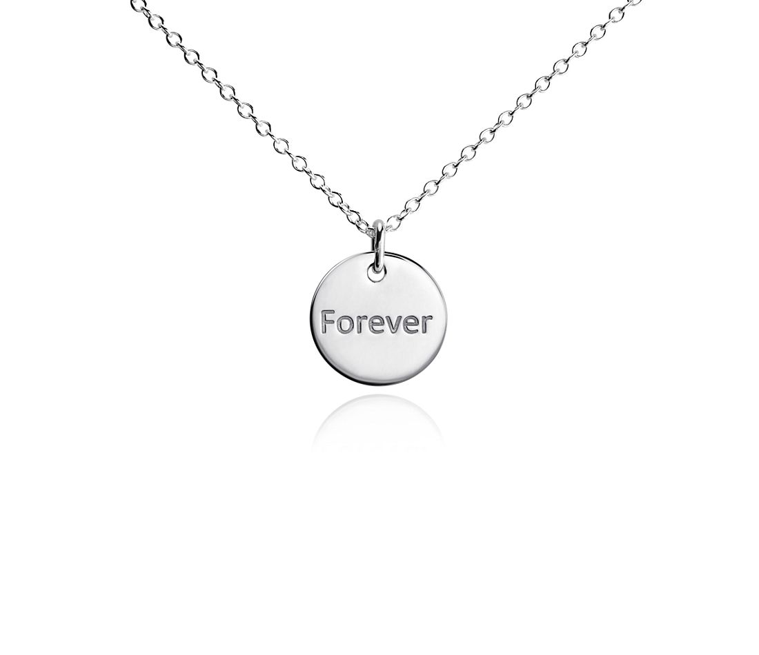 "Mini ""Forever"" Pendant in Sterling Silver"