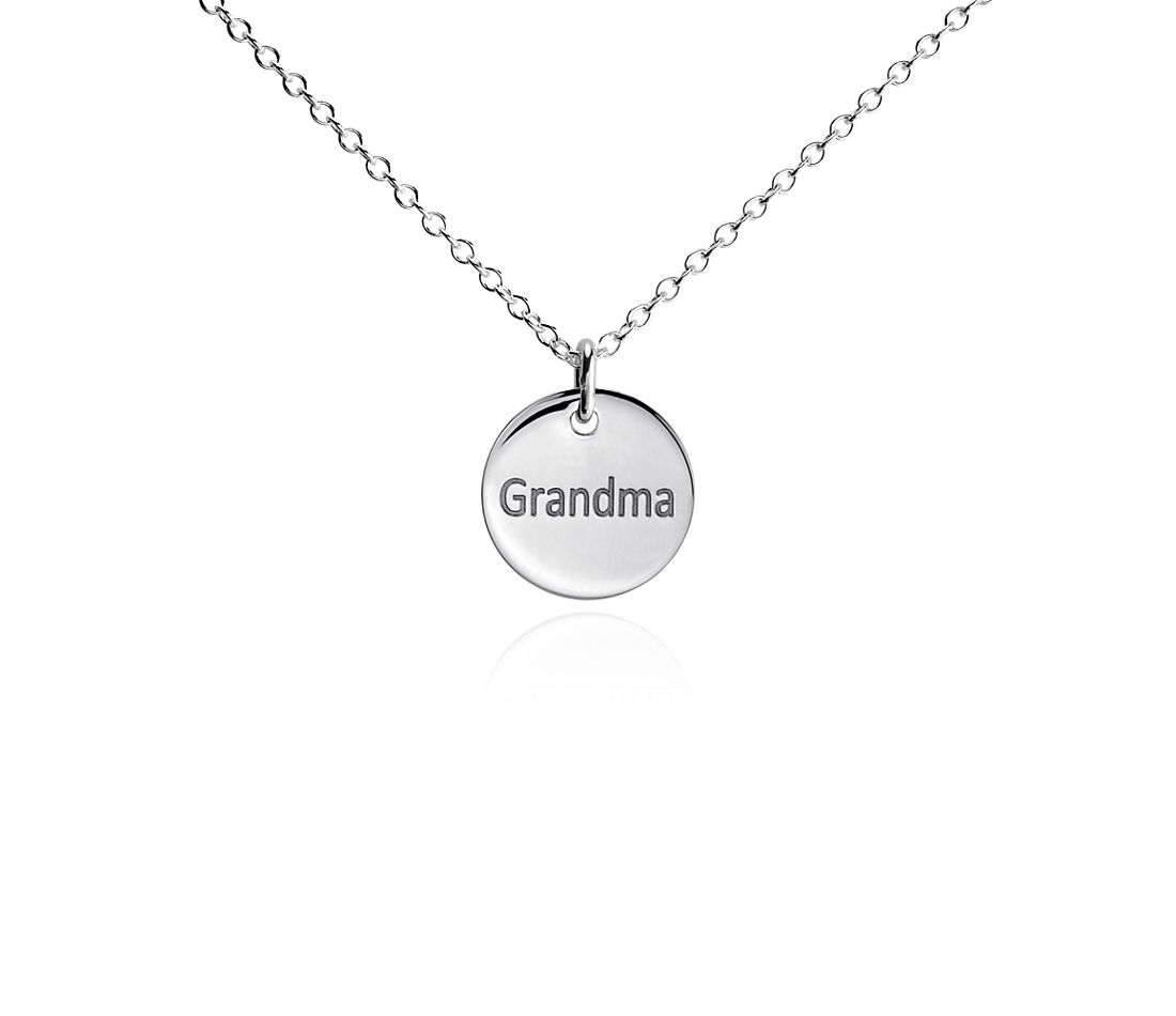 "Mini ""Grandma"" Pendant in Sterling Silver"