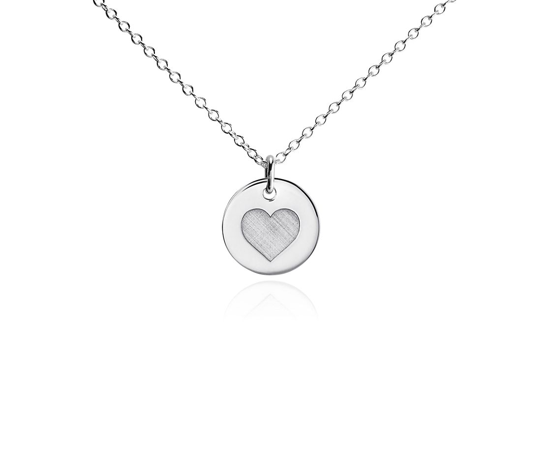 Mini Heart Symbol Pendant in Sterling Silver