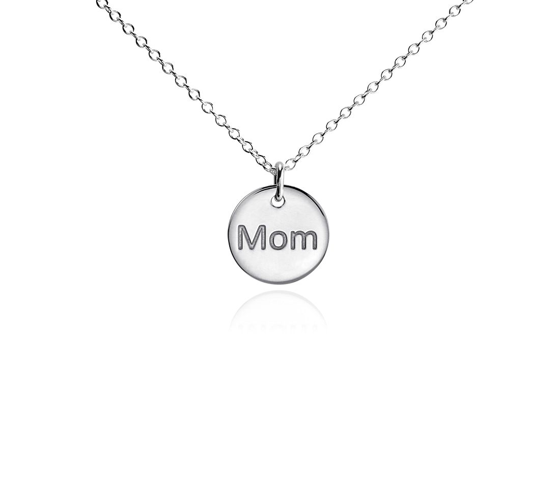 "Mini ""Mom"" Pendant in Sterling Silver"