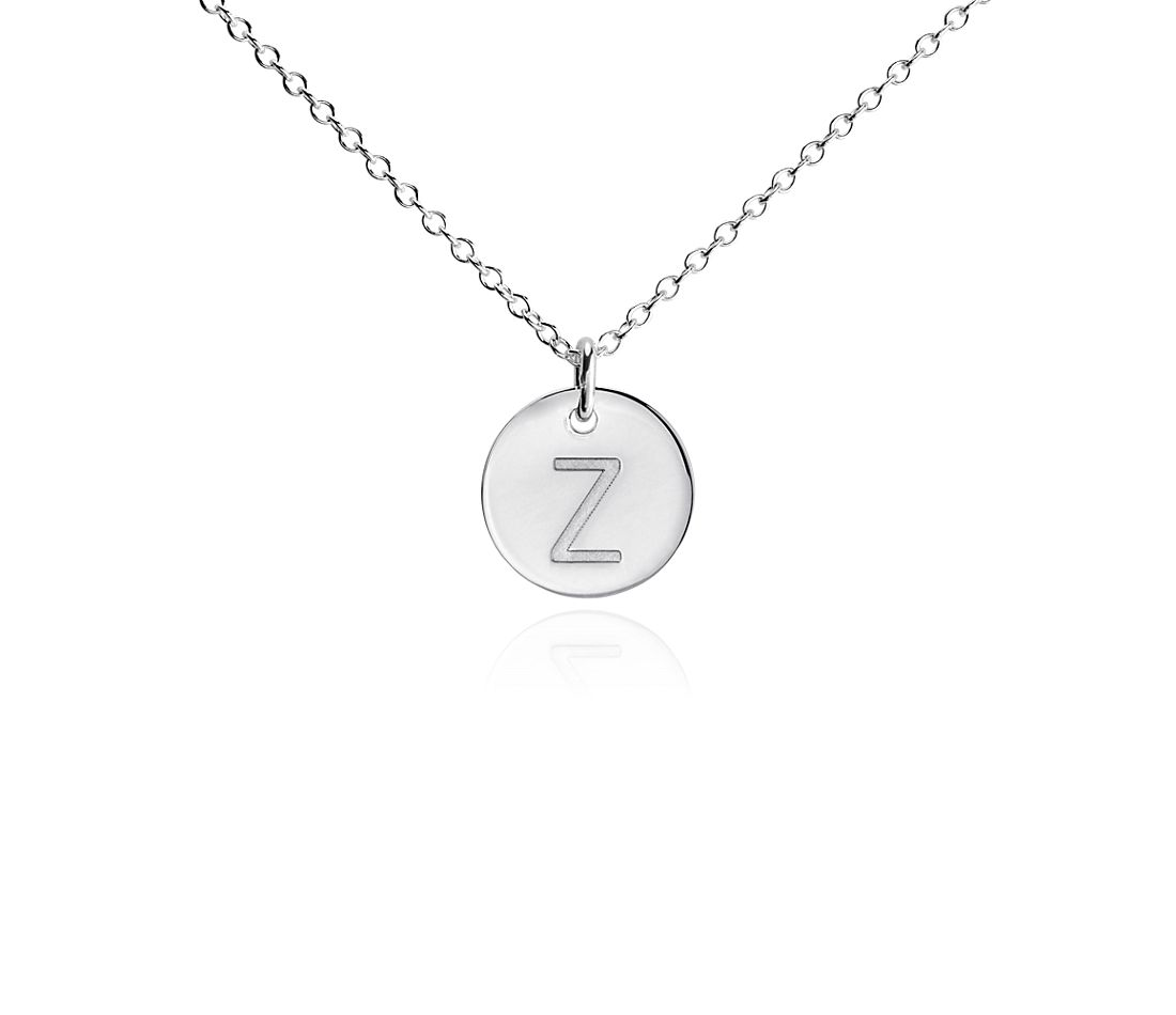 """Z"" Mini Initial Pendant in Sterling Silver"