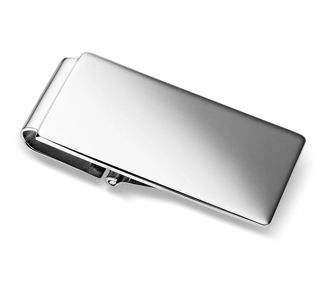 Classic Hinged Money Clip in Sterling Silver