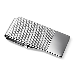 Grid Link Hinged Money Clip in Sterling Silver