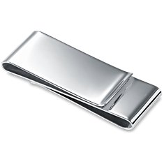 Double-Sided Money Clip in Sterling Silver