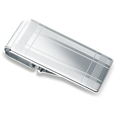Tartan Hinged Money Clip in Sterling Silver