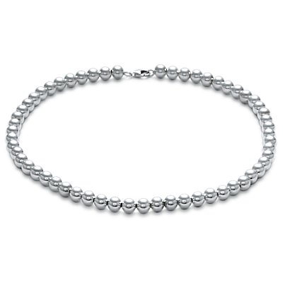 Beads Necklace in Sterling Silver (8mm)