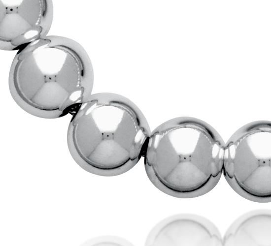 Collar con abalorios en plata de ley (8 mm)