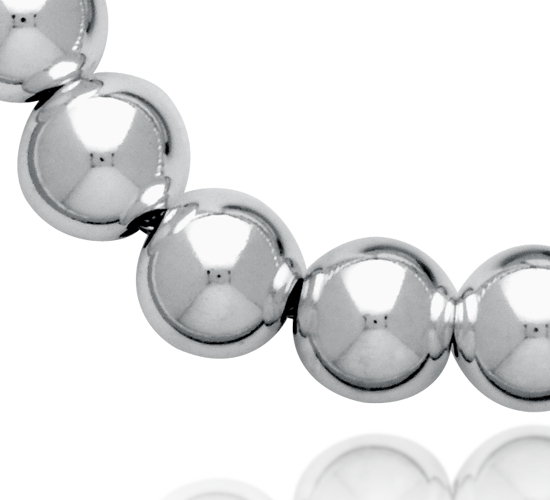 Collier en perles en argent sterling (8mm)