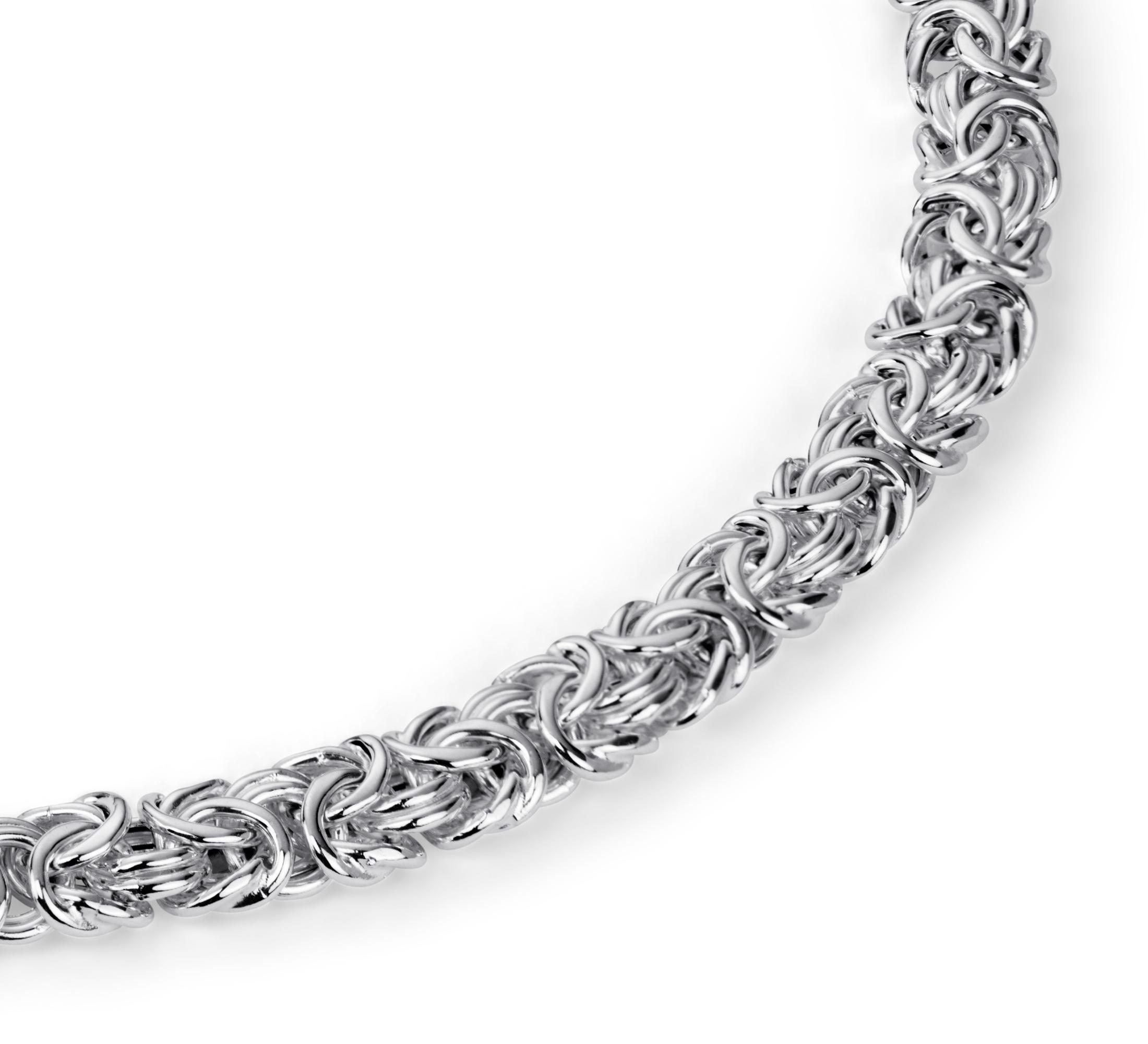 Collar bizantino en plata de ley